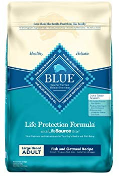 Blue Buffalo Life Protection Formula Natural Adult Large Breed Dry Dog Food, Fish and Oatmeal 30-lb