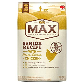 Nutro MAX Senior Recipe with Farm Raised Chicken Dry Dog Food, Whole Grains for Nutritious Fiber, (1) 25-lb. Bag; Rich in Nutrients and Full of Flavor