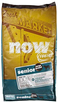NOW! 152512 Fresh Grain Free Large Breed Senior Dog Food, 25-Pound Bag