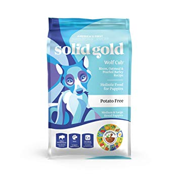 Solid Gold Large Breed Puppy Dry Food; Wolf Cub with Real Bison & Oatmeal; 24lb
