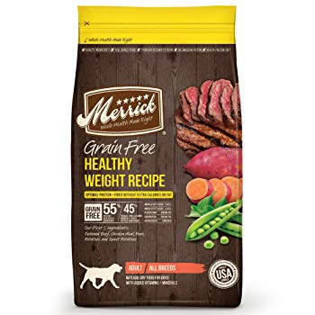 Merrick Grain Free Healthy Weight Recipe Dry Dog Food, 25 lbs