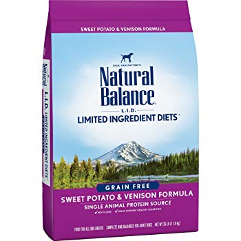Natural Balance L.I.D. Limited Ingredient Diets Dry Dog Food, Grain Free, Sweet Potato & Venison Formula, 26-Pound