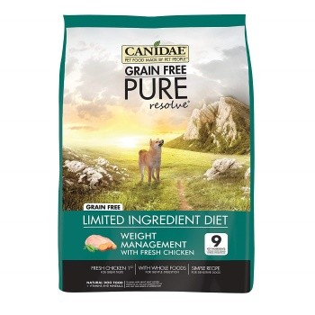 CANIDAE Grain Free PURE Resolve Weight Management Dog Dry Formula with Fresh Chicken
