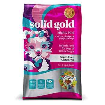 Solid Gold Small & Toy Breed Dry Dog Food; Mighty Mini Grain-Free with Real Chicken; 4lb