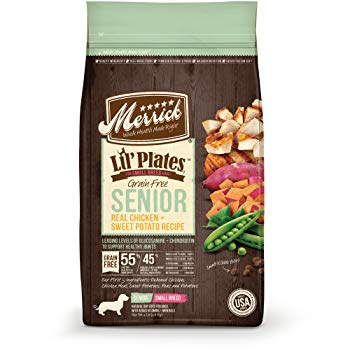 Merrick Lil' Plates Small Breed Grain Free Real Chicken + Sweet Potato Small Breed Senior Dry Dog Food