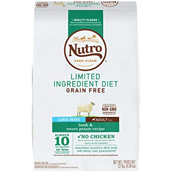 Nutro Limited Ingredient Diet Adult Large Breed Dry Dog Food Lamb & Sweet Potato, 22 lb. Bag