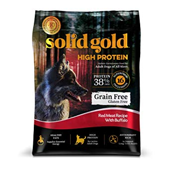 Solid Gold High Protein Dry Dog Food; Grain-Free with Real Buffalo