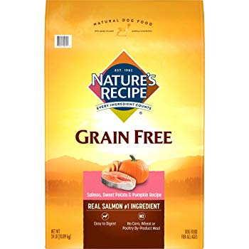 Nature'S Recipe Grain Free Easy To Digest Dry Dog Food, Salmon, Sweet Potato & Pumpkin Recipe