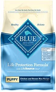Blue Buffalo Life Protection Formula Natural Puppy Dry Dog Food, Chicken And Brown