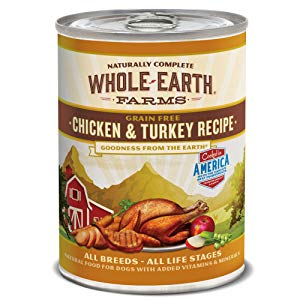Whole Earth Farms Chicken and Turkey Recipe, 12.7-Ounce