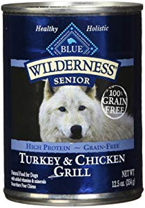Blue Buffalo Wilderness High Protein Grain Free, Natural Senior Wet Dog Food