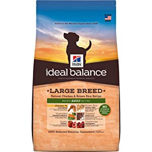 Hill'S Ideal Balance Adult Natural Dog Food, Large Breed Chicken & Brown Rice Recipe Dry Dog Food