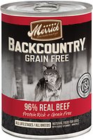 Merrick Backcountry Grain-Free 96% Real Beef Recipe Canned Dog Food