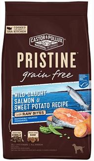 Castor & Pollux PRISTINE Grain-Free Wild-Caught Salmon & Sweet Potato Recipe with Raw Bites Dry Dog Food