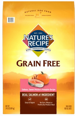 Nature's Recipe Grain-Free Salmon, Sweet Potato & Pumpkin Recipe Dry Dog Food