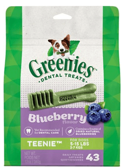 Greenies Bursting Blueberry Teenie Dental Dog Treats