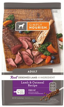 Simply Nourish Lamb & Oatmeal Recipe Adult Dry Dog Food