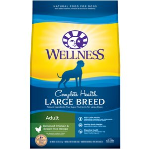 Wellness Large Breed Complete Health Adult Deboned Chicken & Brown Rice Recipe Dry Dog Food