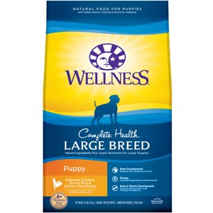 Wellness Large Breed Complete Health Puppy Deboned Chicken, Brown Rice & Salmon Meal Recipe Dry Dog Food