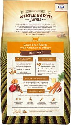 Whole Earth Farms Grain-Free Chicken & Turkey Recipe Dry Dog Food