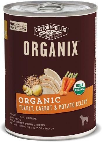 Castor & Pollux Organix Grain-Free Organic Turkey, Carrot & Potato Recipe Adult Canned Dog Food