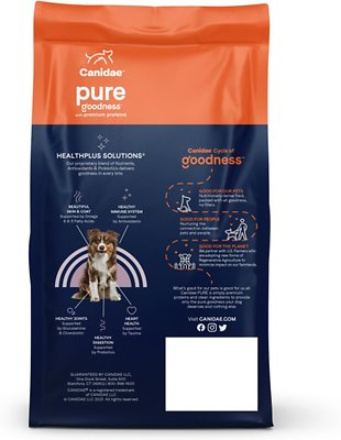 CANIDAE Grain-Free PURE Limited Ingredient Bison, Lentil & Carrot Recipe Dry Dog Food