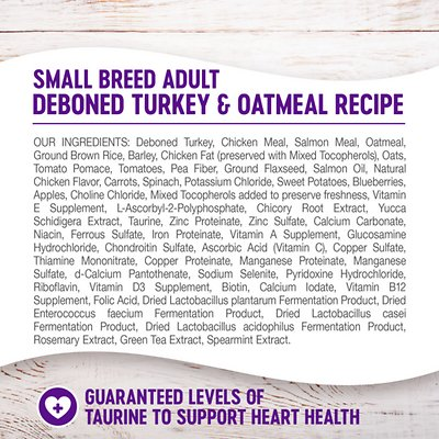 Wellness Small Breed Complete Health Adult Turkey & Oatmeal Recipe Dry Dog Food