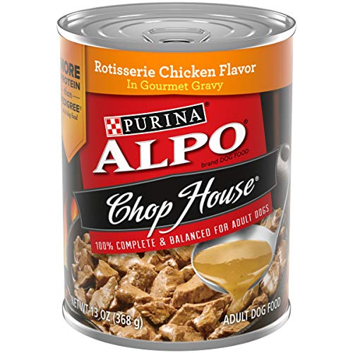 ALPO CHOP HOUSE ROTISSERIE CHICKEN CANNED DOG FOOD, 13-OZ