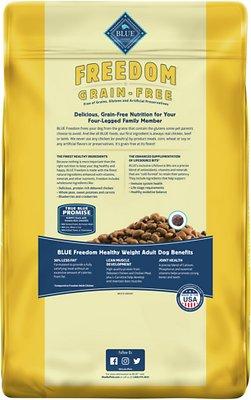 Blue Buffalo Freedom Adult Healthy Weight Chicken Recipe Grain-Free Dry Dog Food