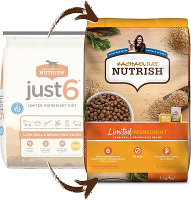 Rachael Ray Nutrish Limited Ingredient Lamb Meal & Brown Rice Recipe Dry Dog Food
