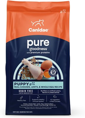 CANIDAEGrain-Free PURE Puppy Limited Ingredient Chicken, Lentil & Whole Egg Recipe Dry Dog Food