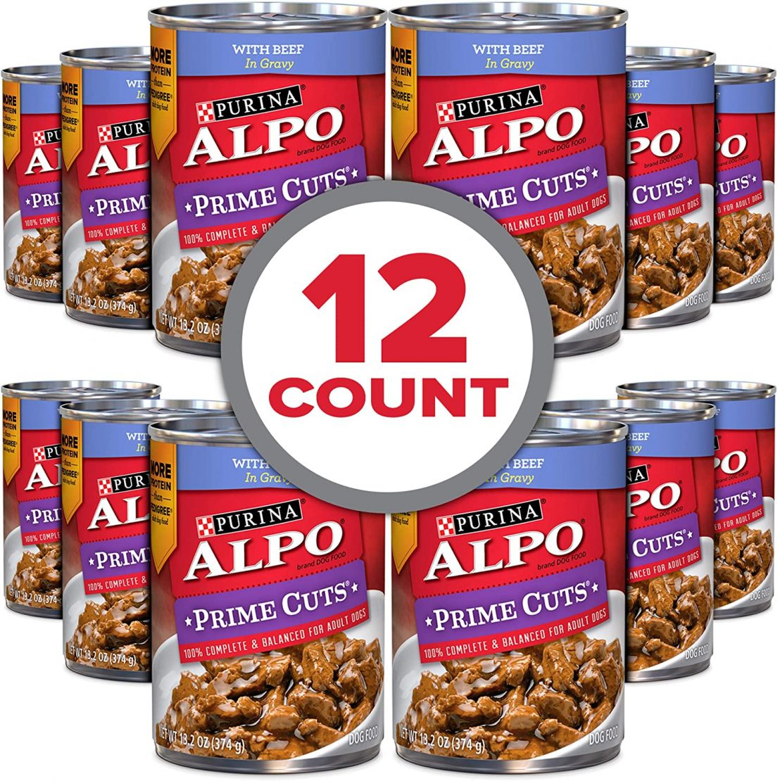 ALPO PRIME CUTS WITH BEEF IN GRAVY CANNED DOG FOOD, 13.2-OZ